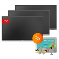 3x TouchScreen Lite 55, 3x Jimu Box